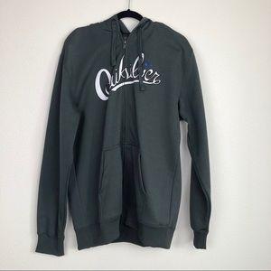 Quiksilver Men's Gray Full Zip Hoodie Sweatshirt